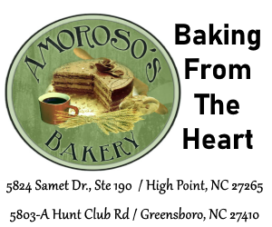 Amoroso's Bakery - 5824 Samet Dr., Ste 190, High Point, NC 27265 / 5803-A Hunt Club Rd., Greensboro, NC 27410