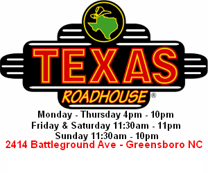 Texas Roadhouse - Greensboro, 2414 Battleground Ave., Greensboro, NC 27408, Phone: 336-288-1028